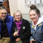 Clodagh Laughlin, Carmel Laughlin and Micheal Laughlin at the launch of Limerick Printmakers' new exhibition at the Hunt Museum on their 20th Anniversary. Picture: Conor Owens/ilovelimerick.