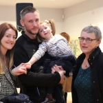 Gillian Wall, JP Wall, Susie Wall and Jess Wall at the launch of Limerick Printmakers' new exhibition at the Hunt Museum on their 20th Anniversary. Picture: Conor Owens/ilovelimerick.