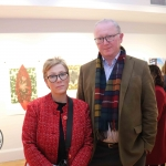 Deirdre Henehy and Brendan Oswall at the launch of Limerick Printmakers' new exhibition at the Hunt Museum on their 20th Anniversary. Picture: Conor Owens/ilovelimerick.