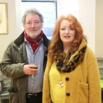 Bron and Tony O'Loughlin at the launch of Limerick Printmakers' new exhibition at the Hunt Museum on their 20th Anniversary. Picture: Conor Owens/ilovelimerick.
