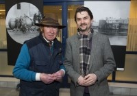 26-02-2015 Pictured at the opening of the Ludlow Collection are Barney Sheehan, from Ennis Road, Limerick, left, and Randall Hodkinson, from Henry St, Limerick.  Limerick through the looking glass, the Ludlow Collection returns to Limerick for the first time in almost a century.  An extensive collection of unique photographs of Limerick has returned for the first time in almost 90 years for a new exhibition by Limerick Museum and Archives. The Ludlow Collection of family photographs is a compilation of images by amateur photographer John Riddell and is held by his descendents David and Steve Ludlow, both living in England. John Riddell came to Limerick from Glasgow, Scotland in 1880 to run Walker's Distillery on Brown's Quay, Thomondgate. When not managing the distillery, John could be found capturing a unique view of Limerick through a series of personal photographs. Now a selection of this wonderful collection will be available for public viewing in Limerick Museum and the Glazed Street, Civic Buildings, Merchant's Quay in an exhibition which opened on Thursday, 26th February.  Picture credit: Diarmuid Greene/Fusionshooters