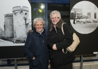 26-02-2015 Pictured at the opening of the Ludlow Collection are Miriam Pollard, from Killarney, Co. Kerry, left, and Emer Madigan, from Parnell St, Limerick.  Limerick through the looking glass, the Ludlow Collection returns to Limerick for the first time in almost a century.  An extensive collection of unique photographs of Limerick has returned for the first time in almost 90 years for a new exhibition by Limerick Museum and Archives. The Ludlow Collection of family photographs is a compilation of images by amateur photographer John Riddell and is held by his descendents David and Steve Ludlow, both living in England. John Riddell came to Limerick from Glasgow, Scotland in 1880 to run Walker's Distillery on Brown's Quay, Thomondgate. When not managing the distillery, John could be found capturing a unique view of Limerick through a series of personal photographs. Now a selection of this wonderful collection will be available for public viewing in Limerick Museum and the Glazed Street, Civic Buildings, Merchant's Quay in an exhibition which opened on Thursday, 26th February.  Picture credit: Diarmuid Greene/Fusionshooters