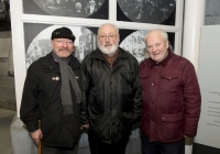 26-02-2015 Pictured at the opening of the Ludlow Collection are, form left to right, Patrick Brosnan, form Marian Avenue, Limerick, Garrett Ryan, from Clareview, Limerick, and Martin Kiely, from Hyde Road, Limerick.  Limerick through the looking glass, the Ludlow Collection returns to Limerick for the first time in almost a century.  An extensive collection of unique photographs of Limerick has returned for the first time in almost 90 years for a new exhibition by Limerick Museum and Archives. The Ludlow Collection of family photographs is a compilation of images by amateur photographer John Riddell and is held by his descendents David and Steve Ludlow, both living in England. John Riddell came to Limerick from Glasgow, Scotland in 1880 to run Walker's Distillery on Brown's Quay, Thomondgate. When not managing the distillery, John could be found capturing a unique view of Limerick through a series of personal photographs. Now a selection of this wonderful collection will be available for public viewing in Limerick Museum and the Glazed Street, Civic Buildings, Merchant's Quay in an exhibition which opened on Thursday, 26th February.  Picture credit: Diarmuid Greene/Fusionshooters