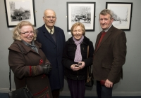 26-02-2015 Pictured at the opening of the Ludlow Collection are, from left to right, Mary Kenehan, Cian O'Carroll, Ann O'Carroll, and Gerald O'Carroll, all from Limerick.  Limerick through the looking glass, the Ludlow Collection returns to Limerick for the first time in almost a century.  An extensive collection of unique photographs of Limerick has returned for the first time in almost 90 years for a new exhibition by Limerick Museum and Archives. The Ludlow Collection of family photographs is a compilation of images by amateur photographer John Riddell and is held by his descendents David and Steve Ludlow, both living in England. John Riddell came to Limerick from Glasgow, Scotland in 1880 to run Walker's Distillery on Brown's Quay, Thomondgate. When not managing the distillery, John could be found capturing a unique view of Limerick through a series of personal photographs. Now a selection of this wonderful collection will be available for public viewing in Limerick Museum and the Glazed Street, Civic Buildings, Merchant's Quay in an exhibition which opened on Thursday, 26th February.  Picture credit: Diarmuid Greene/Fusionshooters