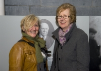 26-02-2015 Pictured at the opening of the Ludlow Collection are Deirdre Power, from Castletroy, left, and Joan Foley, from Corbally, Limerick.  Limerick through the looking glass, the Ludlow Collection returns to Limerick for the first time in almost a century.  An extensive collection of unique photographs of Limerick has returned for the first time in almost 90 years for a new exhibition by Limerick Museum and Archives. The Ludlow Collection of family photographs is a compilation of images by amateur photographer John Riddell and is held by his descendents David and Steve Ludlow, both living in England. John Riddell came to Limerick from Glasgow, Scotland in 1880 to run Walker's Distillery on Brown's Quay, Thomondgate. When not managing the distillery, John could be found capturing a unique view of Limerick through a series of personal photographs. Now a selection of this wonderful collection will be available for public viewing in Limerick Museum and the Glazed Street, Civic Buildings, Merchant's Quay in an exhibition which opened on Thursday, 26th February.  Picture credit: Diarmuid Greene/Fusionshooters