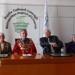 Mayoral Reception at the Council Chamber to Limerick Literary Icons Mae Leonard, Maureen Sparling and Malachy McCourt. Picture: Bruna Vaz Mattos/ ilovelimerick