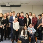 Niall McGrath, Kirsty O'Callaghan, June McGrath, Brian Crowe, Laura Nevin, Adam McGrath, Des Deegan, Sinead Downes, Tom Morrison Katelyn Downes, Lauren Downes, Jenny Morrison, Elaine Crowe, Jackie Delahunty and Kathy Nevin at the Mayoral Reception hosted by Municipal Mayor Daniel Butler in Council Chamber, Merchant Quay, Limerick for Cliona's Foundation for their work in supporting families of children who are critically or terminally ill. Picture: Conor Owens/ilovelimerick.