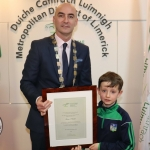 Daniel Butler, Mayor, and Fionn O'Hehir at the Mayoral Reception hosted by Municipal Mayor Daniel Butler in Council Chamber, Merchant Quay, Limerick for Cliona's Foundation for their work in supporting families of children who are critically or terminally ill. Picture: Conor Owens/ilovelimerick.