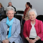 Pictured at the Mayoral Reception for Sr Helen Culhane, Emma Langford and Dr Jennifer McMahon in the Limerick City Chambers are Dorian McCarthy and Maura O'Connor. Picture: Conor Owens/ilovelimerick.