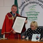Mayor Michael Sheahan held a reception on January 24, 2020, at the council chambers in Limerick City Hall, for Anne Boland, Pat Lysaght and Helen O'Donnell in honour of their contributions to the people of Limerick. Picture: Bruna Vaz Mattos/ilovelimerick.