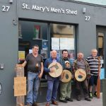 Pictured at the St. Mary's Men's Shed on Nicholas St are Liam Moloney, Ardnacrusha, Seamus Scott, Men's Shed representitive, Aaron Mason, St Patrick's Rd, Ger Mason, St Patrick's Rd and Ger Ryan, St Mary park. Picture: Conor Owens/ilovelimerick.