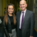 REPRO FREE The MIC Awards Ceremony, held in the Lime Tree Theatre, saw almost 150 students, graduates and alumni from MIC being recognised for their academic and other notable achievements with almost €250,000 presented on the night in scholarships and bursaries. Pictured is Entrance Scholarship recipient Adela Azzopardi, Kildimo, with  Paddy O'Neill, Principal Salesian Secondary College Pallaskenry.Pic Arthur Ellis.