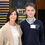 Beverly Hartigan, teacher and Kevin Raggett, 16, from St Anne's, Killaloe, at the Midwest Empowerment and Equality Conference 2019 in University Concert Hall, Limerick on May 1st. Picture: Zoe Conway