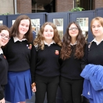 Amy Lombard, 15, Emily O'Reilly, 16, Shannon Collins, 16, Claudia Grosu, 16, and Magdelena Moron, 15 from St. Mary's, Neenagh at the Midwest Empowerment and Equality Conference 2019 in University Concert Hall, Limerick on May 1st. Picture: Zoe Conway