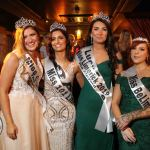 Pictured at the Miss Limerick and Miss Clare 2019 pageant in the Opium nightclub are Miss Clare 2019 Emma Austin, Miss 101 Limerick 2019 Christina Alcazar Deverell, Miss Limerick 2019 Ciara O'Halloran, and Miss BeLimitless 2019 Katie Woods. Picture: Conor Owens/ilovelimerick.
