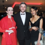 17/2/2018  Attending the Munster Heart Foundation Ball at the Strand Hotel were Alice Brennan, Hugo Dahn, City Centre and Inas Ragab, Dooradoyle. Pic: Gareth Williams / Press 22