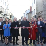 Pictured at the Nicholas Street Painting Project event during the ribbon cutting which celebrates the rebirth of Nicholas Street and Limerick's Medieval Quarter held on Monday, February 3, 2020. Pictures: Anthony Sheehan/ilovelimerick.