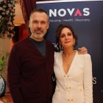Pictured at the Novas International Women's Day Lunch at the Savoy Hotel are Richard Lynch, ilovelimerick and Una Burns, Novas.Picture: Beth Pym/ilovelimerick
