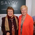 Pictured at the Novas International Women's Day Lunch at the Savoy Hotel areUna Noonan and Mary Ryan, Raheen. Picture: Beth Pym/ilovelimerick