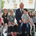 Mayor of Limerick City and County, Stephen Keary and the children of Cute and Clever at the Pay It Forward Kindness Flags Awards at King Johns Castle. Tuesday, May 15, 2018. Picture: Sophie Goodwin/ilovelimerick.