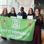 Students from Colaiste Nano Nagle at the Pay It Forward Limerick event at King Johns Castle on May 15 2018. Picture: Zoe Conway/ilovelimerick.