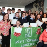 St Nessans NS with teacher Crea McLaughlin with principal Marguerite Quinn and teacher Eyelene Greaney at the Pay It Forward Limerick event at King Johns Castle on May 15 2018. Picture: Zoe Conway/ilovelimerick.
