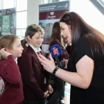 Martins town primary school students talking with Live 95fm at the Pay It Forward Limerick at King Johns Castle on May 15 2018. Picture: Zoe Conway/ilovelimerick.