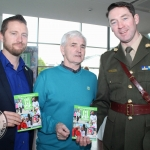 Justin Gearing, Michael O'Mahony and Commandant Martin McGrath at the Pay It Forward Limerick at King Johns Castle on May 15 2018. Picture: Zoe Conway/ ilovelimerick.