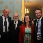 David O'Brien, CEO of Limerick Civic Trust, Senator David Norris,  Rose Anne White, curator of People's Museum of Limerick and Thomas Wallace O'Donnell, Chairman of Limerick Civic Trust pictured at the opening night of People's Museum of Limerick. Picture: Bruna Vaz Mattos / ilovelimerick.