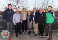 24/03/2015    Kevin Downs (Limerick Senior Hurler), Joy Neville (Irish Rugby Star), Nora Conway (Manager Pieta House), Kieran OBrien (DIL Exec), Eamonn Phelan (PRO Limerick GAA), John Riordan( Limerick Senior Footballer). Picture: Oisin McHugh      www.oisinmchughphoto.com
