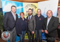 24/03/2015    Pat OSullivan (Masterchef), Louraine Corbett (Corbett Suicide Prevention Patrol), Tony Sheridan (Chairperson DIL Limerick City), Mike Mulholland (Corbett Suicide Prevention Patrol) and Kevin Ryan (Electric Ireland). Picture: Oisin McHugh      www.oisinmchughphoto.com