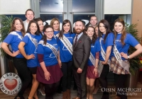 24/03/2015    Tony Sheridan (Chairperson DIL Limerick City), Dawn Ryan (Limerick Rose 2014, Tonys right) and 2015 Limerick Roses and escorts.  Picture: Oisin McHugh      www.oisinmchughphoto.com