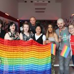 Pictured is Aeryn Wroe, City Centre, Chloe Daly, City Centre, DJ Sheedy, Limerick, Olivia Chau, Dooradoyle, Jonathan Kelly, Southill, Lauren Creedon, Newcastle West, Emmett Russell, Balnacurragh and Ms Gay Limerick Amanda Boland, Janesboro, at the Limerick Pride Youth Party at Lava Java's Cafe. Picture: Orla McLaughlin/ilovelimerick.