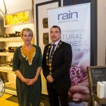Bev Missing, Rain Africa Founder, with Cllr James Collins, Mayor of Limerick City and County. Pic: Cian Reinhardt/ilovelimerick