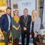 Patrick McLoughney, Bev Missing, Rain Africa, Cllr James Collins, Mayor Limerick City and County, with LEanne Moore. Pic: Cian Reinhardt/ilovelimerick