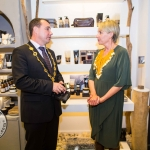 Cllr James Collins, Mayor of Limerick City and County, with Bev Missing, Rain Africa. pic Cian Reinhardt