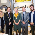 Leanne Moore, Cllr James Collins, Mayor of Limerick City and County, Bev Missing, Rain Africa, Clem Ryan, Centre Manager, Patrick McLoughney, and Edwina Gore. Pic: Cian Reinhardt/ilovelimerick