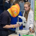 20/01/17 REPRO FREE Pictured at the 2017 RDS Primary Science Fair Limerick was Rory Piggott and Aoibheann Barry from Northampton NS, Kinvara, County Galway. This year the Limerick Fair doubled capacity to 120 schools, in only its second year. In total, across three venues: Dublin, Limerick and Belfast, a total of 7,500 primary school students will participate at the Fair. This is the first year of the RDS Primary Science Fair Belfast. Photo: Sean Curtin True Media.