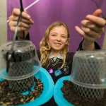 REPRO FREE 22/01/17 Pictured at the 2017 RDS Primary Science Fair Limerick was Abby O Dwyer from Cloverfield NS, Fromkeen, Co. Limerick. This year the Limerick Fair doubled capacity to 120 schools, in only its second year. In total, across three venues: Dublin, Limerick and Belfast, a total of 7,500 primary school students will participate at the Fair. This is the first year of the RDS Primary Science Fair Belfast. Picture Oisin McHugh True Media.