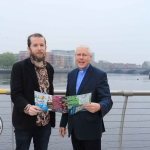 Pictured in House Limerick for the launch of Riverfest Limerick 2019 are Mark O'Connor and Reverend Paul Fitzpatrick. Picture: Conor Owens/ilovelimerick.