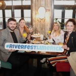 Pictured in House Limerick for the launch of Riverfest Limerick 2019 are (l to r) Sinead Walsh, Ed Roche, Vallery Wheeler and Criodhna Mulvihill. Picture: Conor Owens/ilovelimerick.