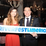 Pictured in House Limerick for the launch of Riverfest Limerick 2019 are Meghann Scully and Cllr James Collins, Mayor of Limerick City and Council. Picture: Conor Owens/ilovelimerick.