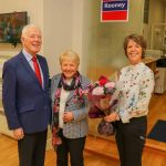 Lisa Kearney, Director & Head of Residential & New Homes Sales presenting a small token of gratitude to her parents Eileen and Pat Kearney who started the company in 1970  to acknowledge their contribution to Rooney's 50 years in business. Picture: Richard Lynch/ilovelimerick.