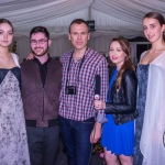 Pictured at the Rose of Tralee Fashion Show were Young Student Designer nominee Eoin Sheedy from Limerick College of Further Education, Richard Lynch and Sarah Hayes, I Love Limerick with models from the Holman Lee Agency. Picture: Cian Reinhardt/ilovelimerick