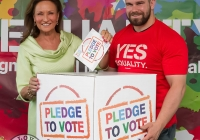 07/04/2015  Celia Holmen Lee and Duncan Casey at the Yes Equality Limerick launch at the Limerick Strand Hotel.  Picture: Oisin McHugh  www.oisinmchughphoto.com