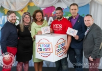 07/04/2015  John James Hickey (Volunteer Coordinator), Jenny Hannon (Canvassing Croordinator), Celia Holmen Lee, Duncan Casey (Munster Rubgy), Richard Lynch (ILoveLimerick.com) and Cillian Flynn (Press and Media) at the Yes Equality Limerick launch at the Limerick Strand Hotel.  Picture: Oisin McHugh  www.oisinmchughphoto.com