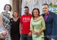 07/04/2015  Sharon McMeel, Moninne Griffith (Marriage Equality's Director), Duncan Casey (Munster Rubgy), Celia Holmen Lee, Richard Lynch (ILoveLimerick.com) at the Yes Equality Limerick launch at the Limerick Strand Hotel.  Picture: Oisin McHugh  www.oisinmchughphoto.com