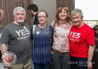07/04/2015    John McGlynn, Linda McGlynn, Cathy McGlynn, Anne McGlynn at the Yes Equality Limerick launch at the Limerick Strand Hotel.  Picture: Oisin McHugh      www.oisinmchughphoto.com