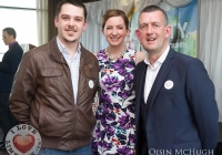 07/04/2015    Seighin OCeallaigh, Olivia OSullivan (MC) and Maurice Quinlivan (Councillor) at the Yes Equality Limerick launch at the Limerick Strand Hotel.  Picture: Oisin McHugh      www.oisinmchughphoto.com