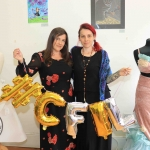 Pictured at the showcase of Ireland's Second Cystic Fibrosis Art Exhibition in the CB1 Gallery are Erin Sugrue, Cystic Fibrosis Ireland, and Sara Cross, Event Organiser. Picture: Conor Owens/ilovelimerick.